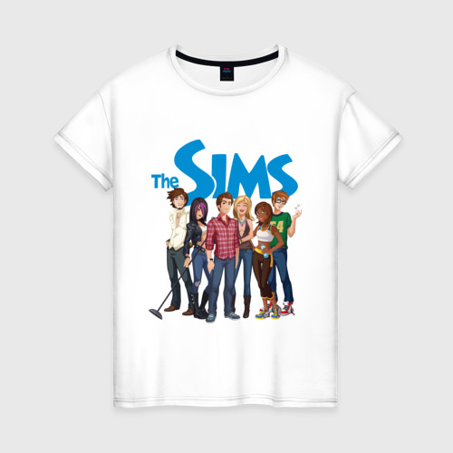 Женская футболка хлопок The Sims heroes