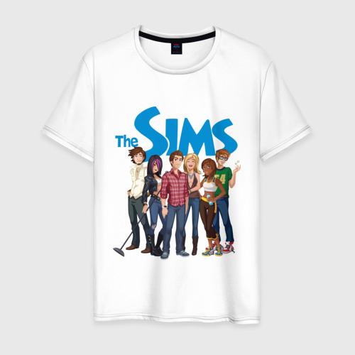Мужская футболка хлопок The Sims heroes