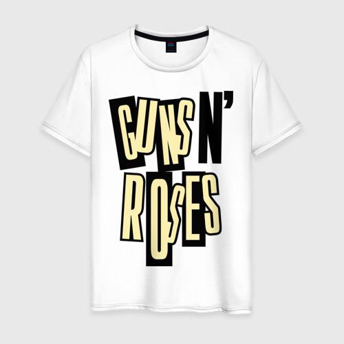 Мужская футболка хлопок Guns n roses cream