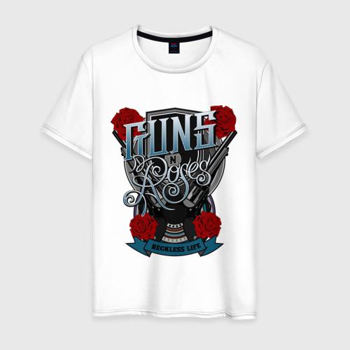 Мужская футболка хлопок Guns n roses illustration