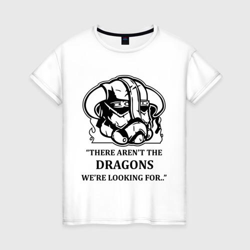 Женская футболка хлопок Skyrim – тут нет драконов