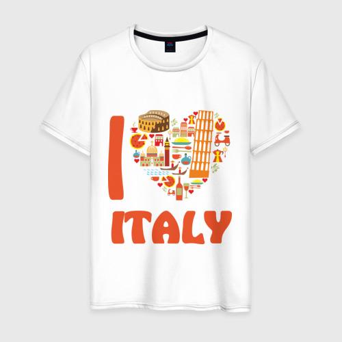 Мужская футболка хлопок Я люблю Италию