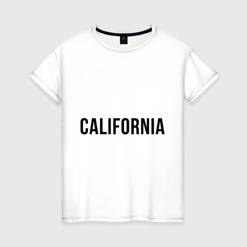 Женская футболка хлопок California (Los Angeles)