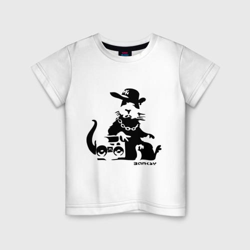 Детская футболка хлопок Gangsta rat (Banksy)
