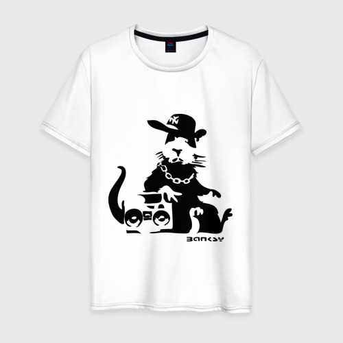 Мужская футболка хлопок Gangsta rat (Banksy)