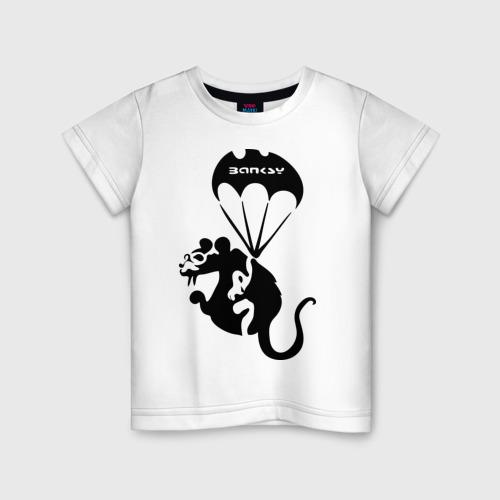 Детская футболка хлопок Rat with parachute  (Banksy)