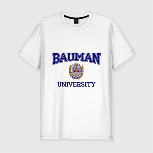 Мужская футболка хлопок Slim BAUMAN University