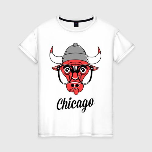 Женская футболка хлопок Chicago swag