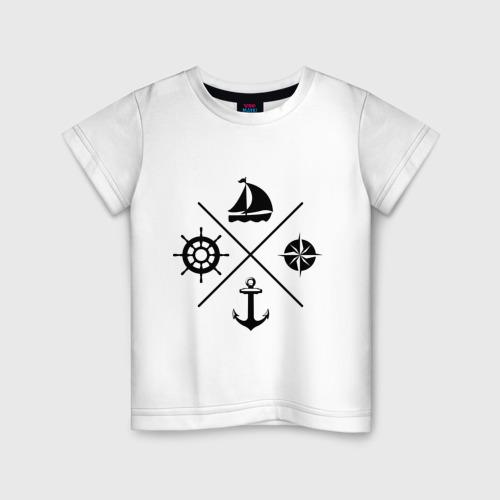 Детская футболка хлопок Sailor theme