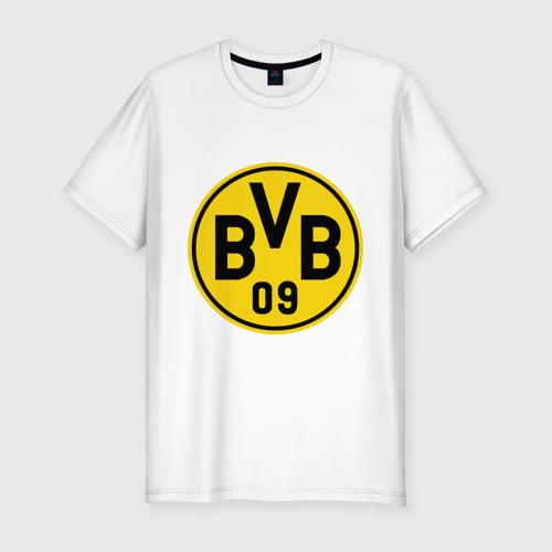 Мужская футболка хлопок Slim Borussia Dortmund