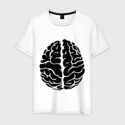 Мужская футболка хлопок Он - мозг