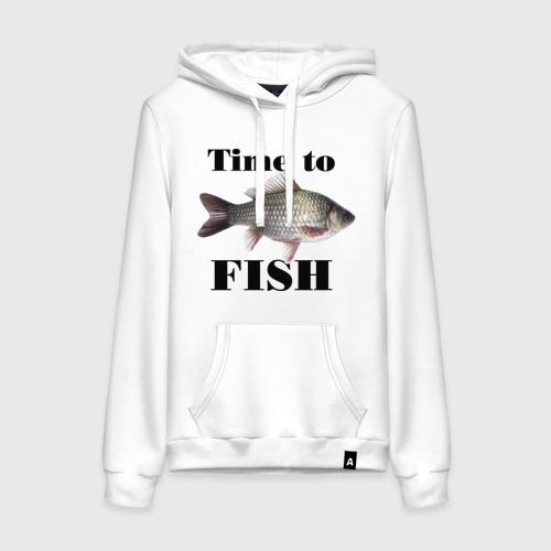 Женская толстовка хлопок Time to fish.