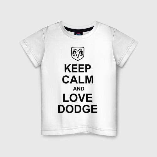 Детская футболка хлопок keep calm and love dodge