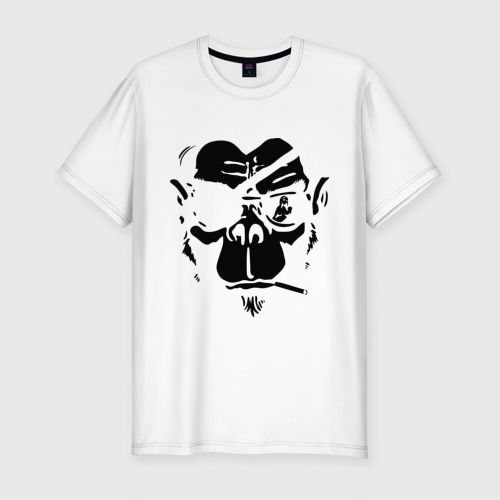 Мужская футболка хлопок Slim Мистер Горилла