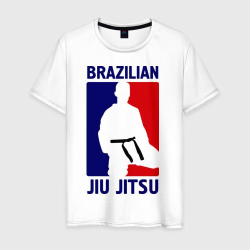 Мужская футболка хлопок Джиу-джитсу  (Jiu jitsu)