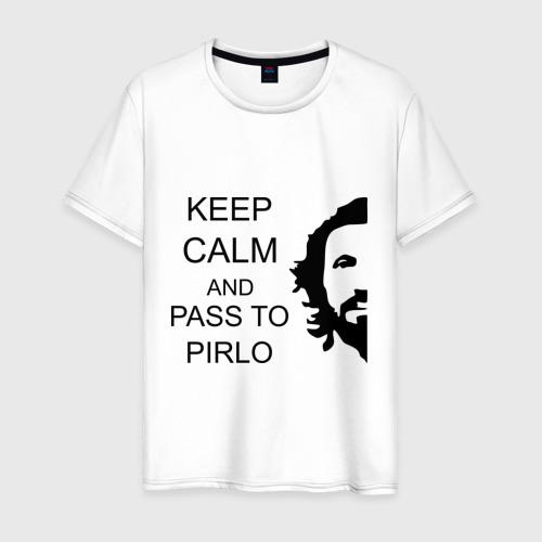 Мужская футболка хлопок Keep calm and pass to Pirlo