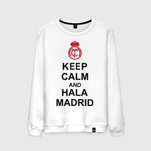 Мужской свитшот хлопок keep calm and Hala Madrid