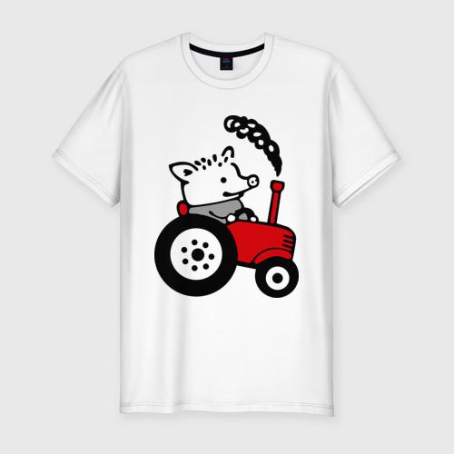 Мужская футболка хлопок Slim Поросенок Петр