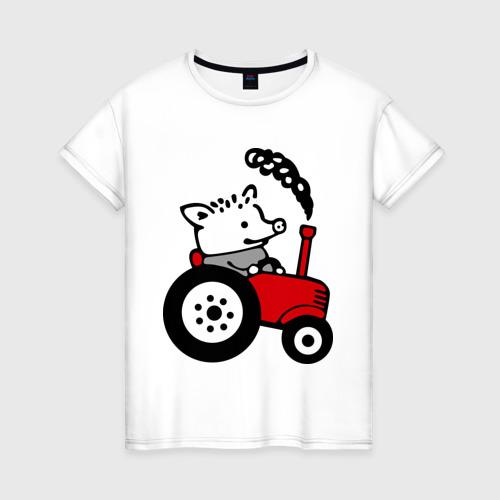 Женская футболка хлопок Поросенок Петр
