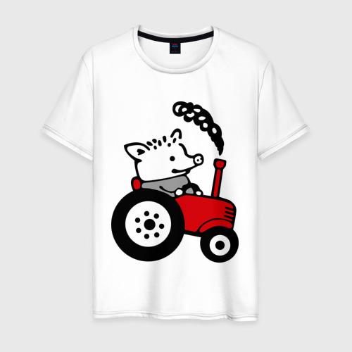 Мужская футболка хлопок Поросенок Петр