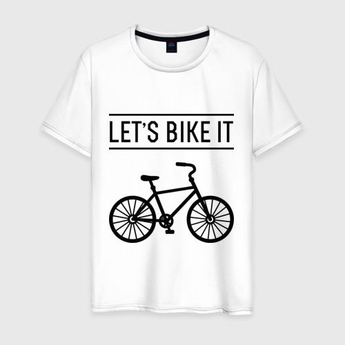 Мужская футболка хлопок Let's bike it