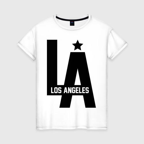 Женская футболка хлопок Los Angeles Star