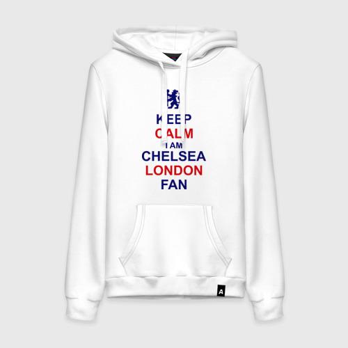 Женская толстовка хлопок keep calm I am Chelsea London fan