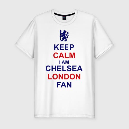 Мужская футболка хлопок Slim keep calm I am Chelsea London fan