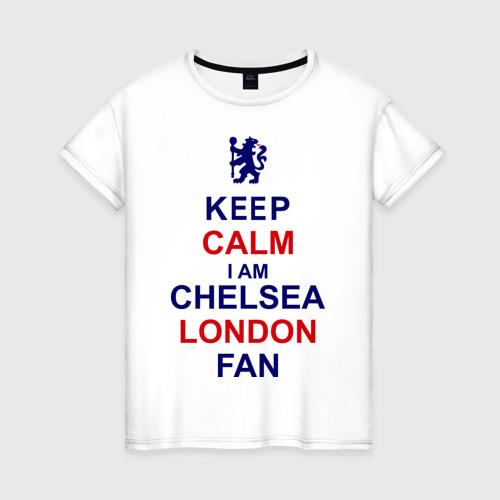 Женская футболка хлопок keep calm I am Chelsea London fan
