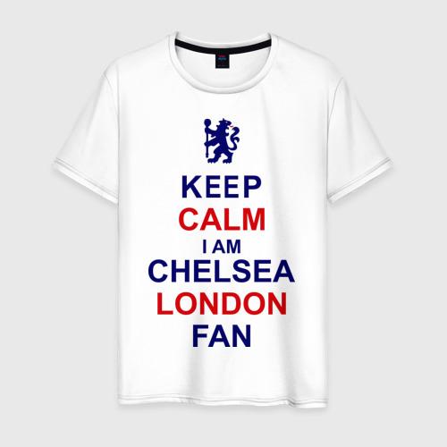 Мужская футболка хлопок keep calm I am Chelsea London fan