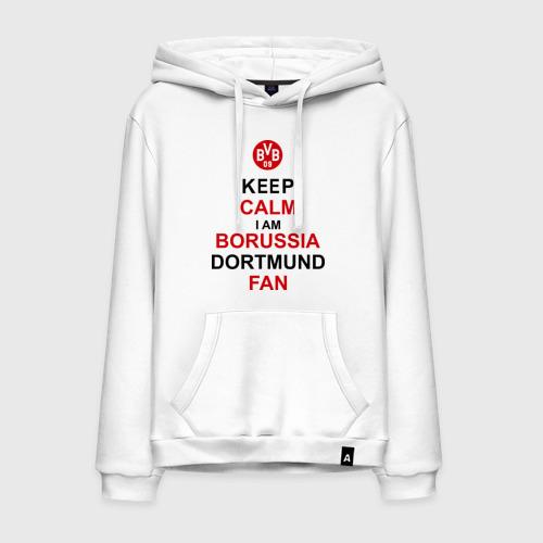 Мужская толстовка хлопок keep calm i am Borussia Dortmund fan