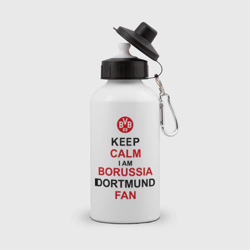Бутылка спортивная keep calm i am Borussia Dortmund fan