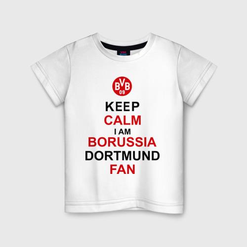 Детская футболка хлопок keep calm i am Borussia Dortmund fan