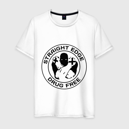 Мужская футболка хлопок Streght edge (sXe) (3)