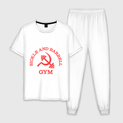 Мужская пижама хлопок Серп и штанга (Sickle & barbell Gym)
