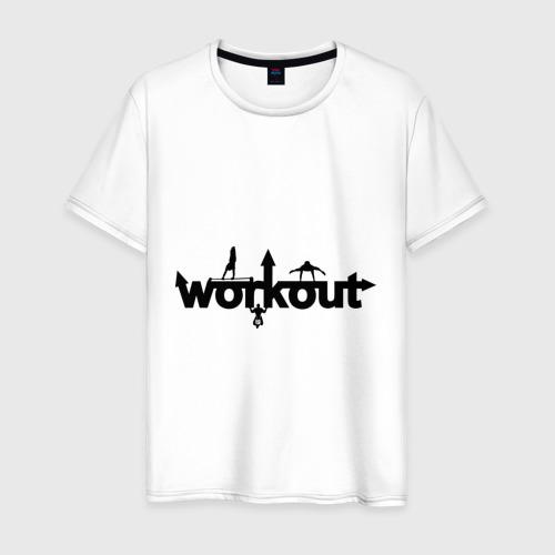 Мужская футболка хлопок WorkOut GYM