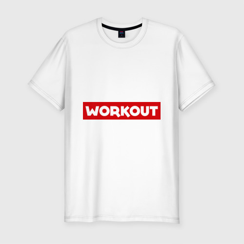 Мужская футболка хлопок Slim Obey workout