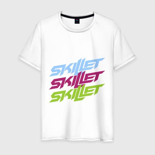 Мужская футболка хлопок Skillet тройной