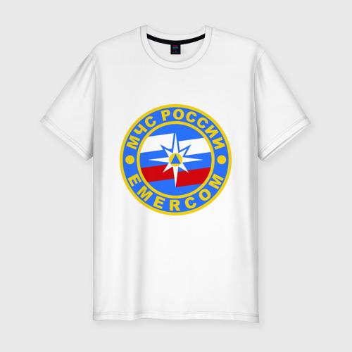 Мужская футболка хлопок Slim МЧС России