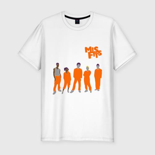 Мужская футболка хлопок Slim Misfits