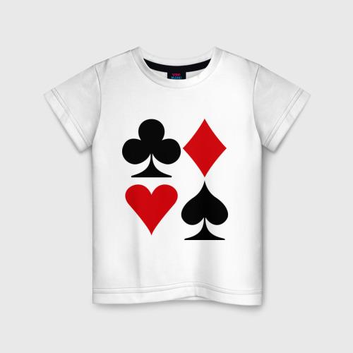 Детская футболка хлопок Масти карт