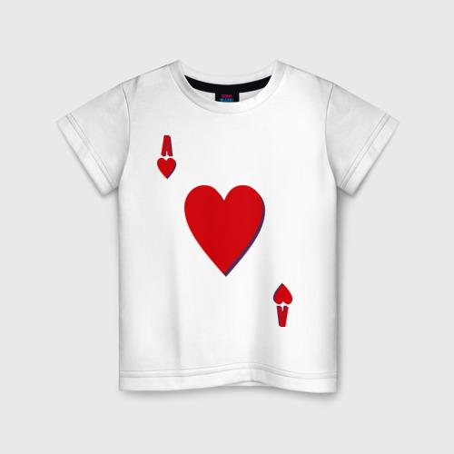 Детская футболка хлопок Червовый туз