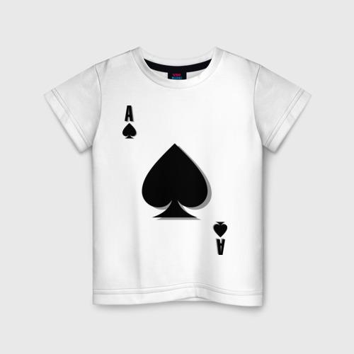 Детская футболка хлопок Пиковый туз