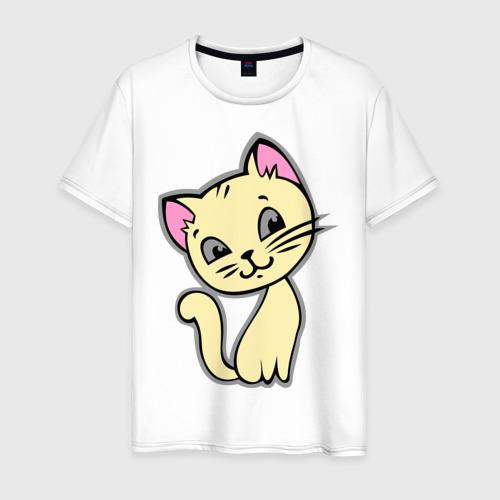 Мужская футболка хлопок Котенок