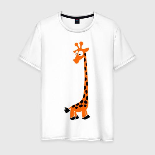 Мужская футболка хлопок Жирафик