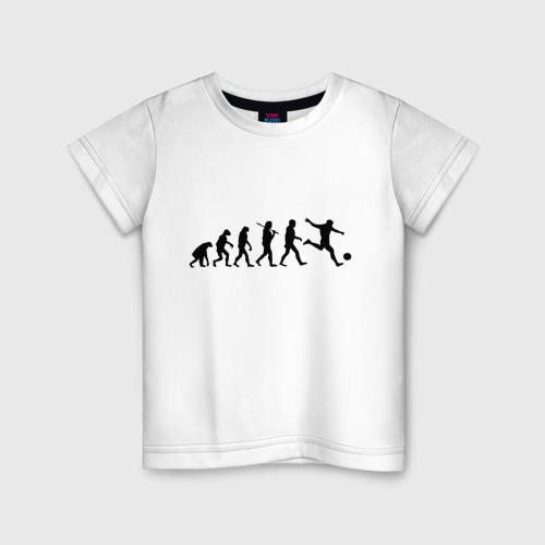 Детская футболка хлопок Футбольная эволюция