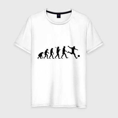 Мужская футболка хлопок Футбольная эволюция