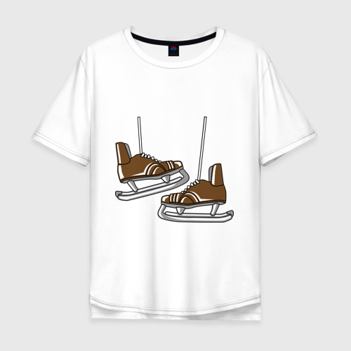 Мужская футболка хлопок Oversize Старые коньки