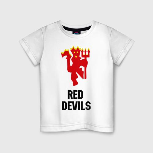Детская футболка хлопок red devils (manchester united)