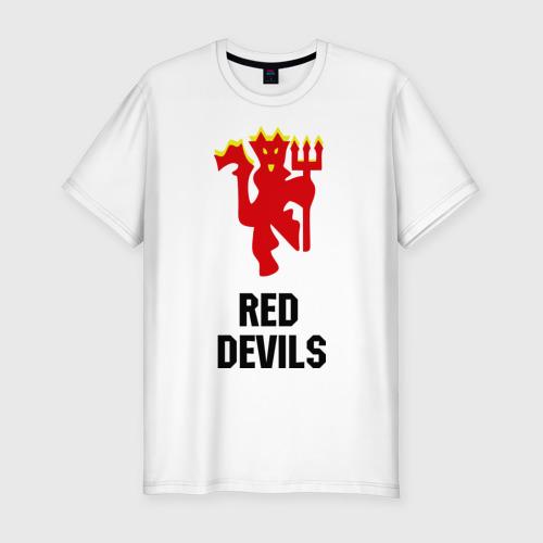 Мужская футболка хлопок Slim red devils (manchester united)